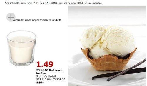 IKEA Berlin-Spandau - SINNLIG Duftkerze im Glas - jetzt 50% billiger