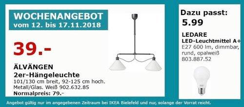 IKEA Bielefeld - ÄLVÄNGEN 2er-Hängeleuchte - jetzt 51% billiger