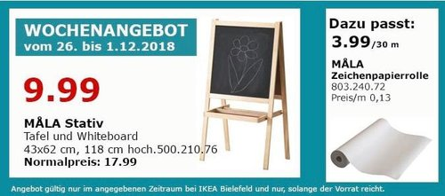 IKEA Bielefeld - MALVA Stativ, Tafel und Whiteboard - jetzt 44% billiger