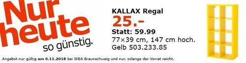IKEA Braunschweig - KALLAX Regal gelb - jetzt 58% billiger