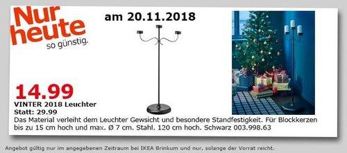 IKEA Brinkum - VINTER 2018 Leuchter, 120 cm hoch, schwarz - jetzt 50% billiger
