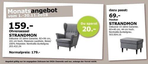 IKEA Chemnitz - STRANDMON Ohrensessel - jetzt 11% billiger