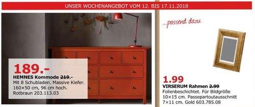 IKEA Düsseldorf - HEMNES Kommode mit 8 Schubladen, rotbraun - jetzt 14% billiger