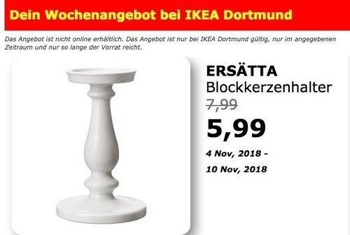 IKEA Dortmund - ERSÄTTA Blockkerzenhalter - jetzt 25% billiger