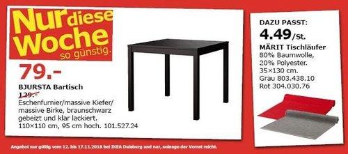 IKEA Duisburg - BJURSTA Bartisch, schwarz - jetzt 39% billiger