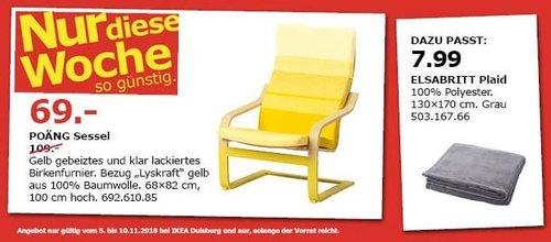 IKEA Duisburg - POÄNG Sessel in Gelb - jetzt 37% billiger