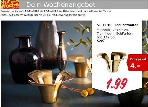 IKEA Erfurt - STILLHET Teelichthalter, goldfarben - jetzt 67% billiger