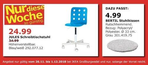 IKEA Großburgwedel - JULES Schreibtischstuhl - jetzt 29% billiger