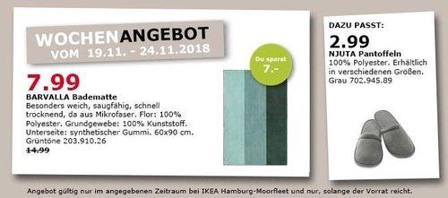 IKEA Hamburg-Moorfleet - BARVALLA Badematte, 60x90 cm - jetzt 47% billiger