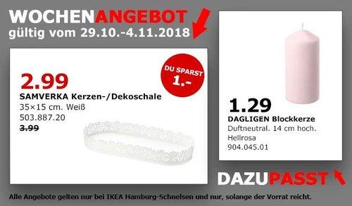 IKEA Hamburg-Schnelsen - SAMVERKA Kerzen-/Dekoschale - jetzt 25% billiger