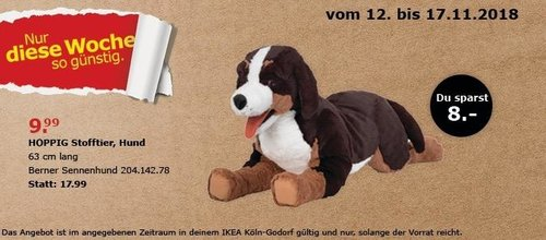 IKEA HOPPIG Stofftier, Hund - jetzt 44% billiger