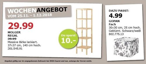 IKEA Kaarst - MOLGER Regal, 37x37 cm, 140 cm hoch - jetzt 25% billiger