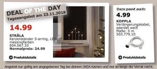 IKEA Kamen - STRALA Kerzenständer 5-armig - jetzt 40% billiger