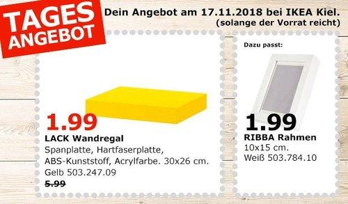 IKEA Kiel - LACK Wandegal, 30x26 cm, gelb - jetzt 67% billiger