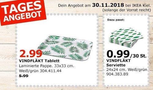 IKEA Kiel - VINDFLÄKT Tablett, weiß/grün - jetzt 50% billiger