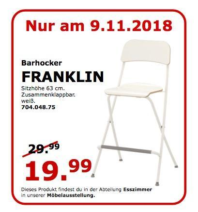 IKEA Koblenz - FRANKLIN Barhocker - jetzt 33% billiger