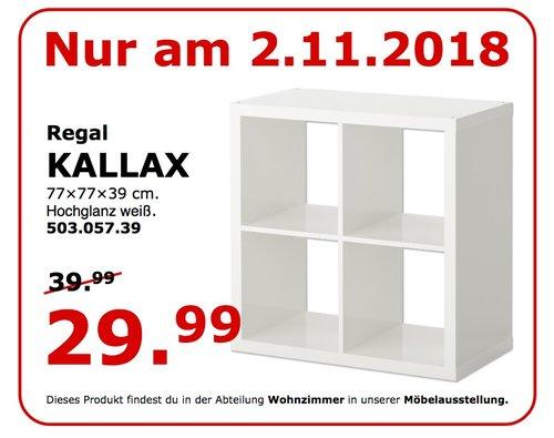 IKEA Koblenz - KALLAX Regal, 77x77x39 cm - jetzt 25% billiger