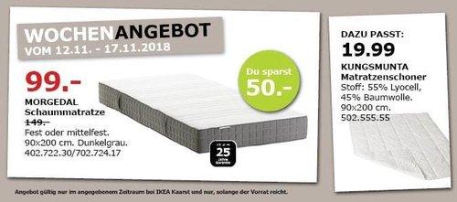 IKEA MORGEDAL Schaummatratze, 90x200 cm - jetzt 34% billiger