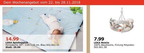 IKEA Oldenburg - LEKA Spielteppich, 118x118 cm, blau - jetzt 50% billiger