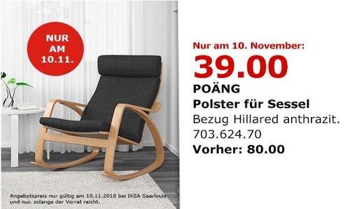 IKEA Saarlouis - POÄNG Sessel, Anthrazit - jetzt 63% billiger