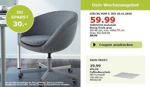 IKEA Sindelfingen - SKRUVSTA Drehstuhl - jetzt 33% billiger