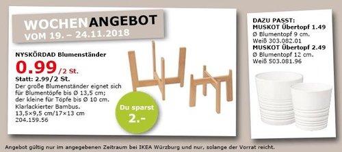 IKEA Würzburg - NYSKÖRDAD Blumenständer 2 St., klarlackierter Bambus - jetzt 67% billiger