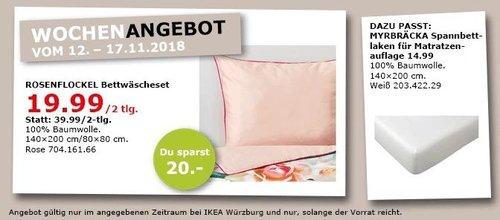 IKEA Würzburg - ROSENFLOCKEL Bettwäscheset - jetzt 50% billiger