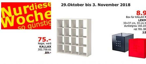 ikea walldorf kallax regal wei f r 75 00 16. Black Bedroom Furniture Sets. Home Design Ideas