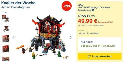 LEGO 70643 Ninjago: Tempel der Auferstehung - jetzt 9% billiger