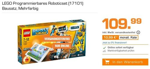 LEGO Boost 17101 - Programmierbares Roboticset - jetzt 8% billiger