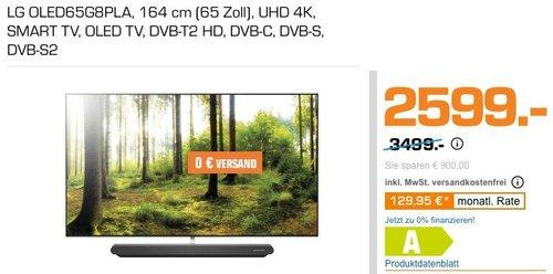 LG OLED65G8PLA 164 cm (65 Zoll) UHD 4K OLED-TV - jetzt 26% billiger