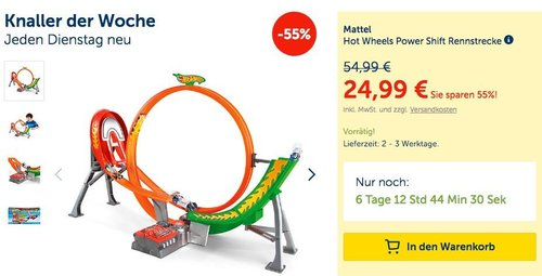 Mattel Hot Wheels Power Shift Rennstrecke - jetzt 30% billiger