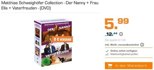 Matthias Schweighöfer Collection - Der Nanny + Frau Ella + Vaterfreuden - (DVD) - jetzt 54% billiger