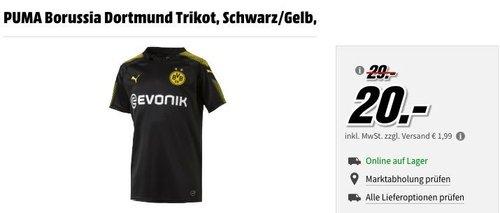 MediaMarkt Fußball-Trikots - Aktion: z.B. PUMA Borussia Dortmund Kinder Trikot, Schwarz/Gelb Gr.176 - jetzt 10% billiger
