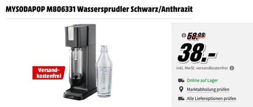 mySodapop M806331 Jerry Wassersprudler inkl. 1x PET-Flasche und 1x Glasflasche - jetzt 36% billiger