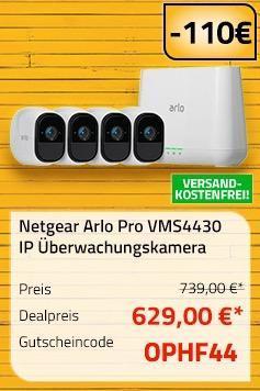 Netgear Arlo Pro Smart Home 4 HD-Kamera Sicherheitssystem (VMS4430) - jetzt 15% billiger