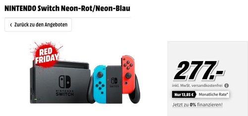NINTENDO Switch Neon-Rot/Neon-Blau Spielkonsole - jetzt 12% billiger