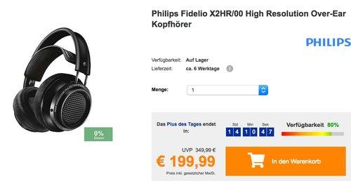 Philips Fidelio X2HR/00 High Resolution Over-Ear Kopfhörer - jetzt 23% billiger
