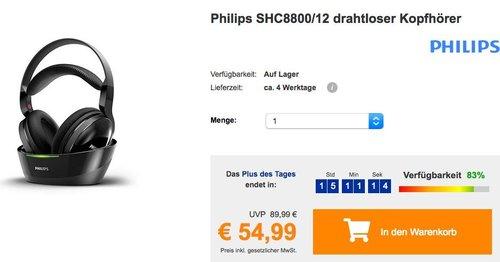 Philips SHC8800/12 Funkkopfhörer - jetzt 21% billiger