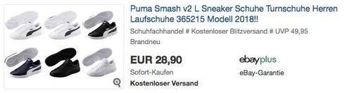Puma Smash v2 L Herren Sneaker in verschiedenen Größen und Farben - jetzt 17% billiger