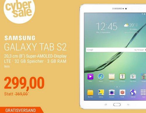 Samsung GALAXY Tab S2 8.0 T719N Tablet in Weiß (8,0 Zoll, LTE , 32 GB,  Android 6.0) - jetzt 17% billiger