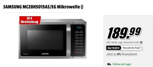 SAMSUNG MC28H5015AS/EG Heißluft-Mikrowelle, 28 L - jetzt 13% billiger