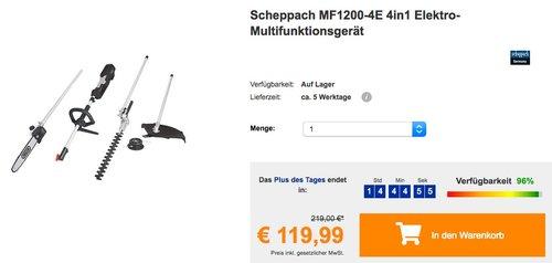 Scheppach MF1200-4E 4in1 Elektro-Multifunktionsgerät - jetzt 29% billiger