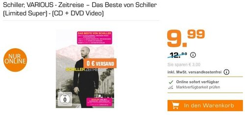 Schiller, VARIOUS - Zeitreise – Das Beste von Schiller (Limited Super) - (CD + DVD Video) - jetzt 23% billiger