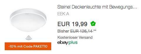 Steinel Deckenleuchte RS 10-4 L mit  Bewegungsmelder - jetzt 55% billiger