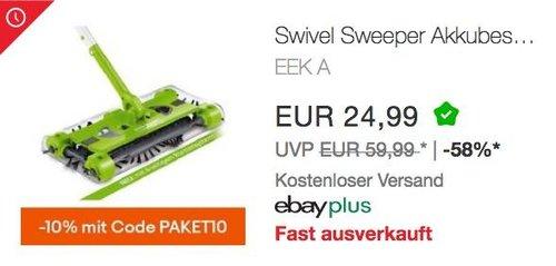 Swivel Sweeper G2 Akkubesen in Grün - jetzt 10% billiger