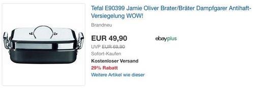 Tefal Jamie Oliver Professional 34 X28 cm Bräter und Dampfgarer - jetzt 29% billiger