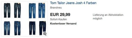 "Tom Tailor Herren Jeans ""Josh"" in verschiedenen Farben - jetzt 21% billiger"