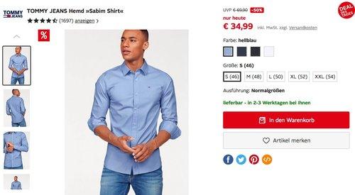 """TOMMY JEANS Hemd """"Sabim Shirt"""" in verschiedenen Farben - jetzt 41% billiger"""