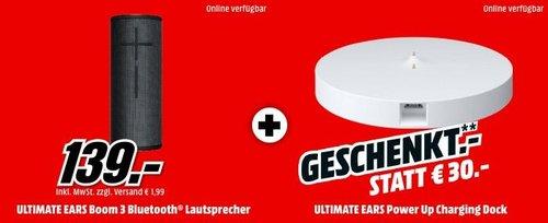 ULTIMATE EARS BOOM 3 Bluetooth Lautsprecher inkl. ULTIMATE EARS POWER UP Ladegerät - jetzt 18% billiger